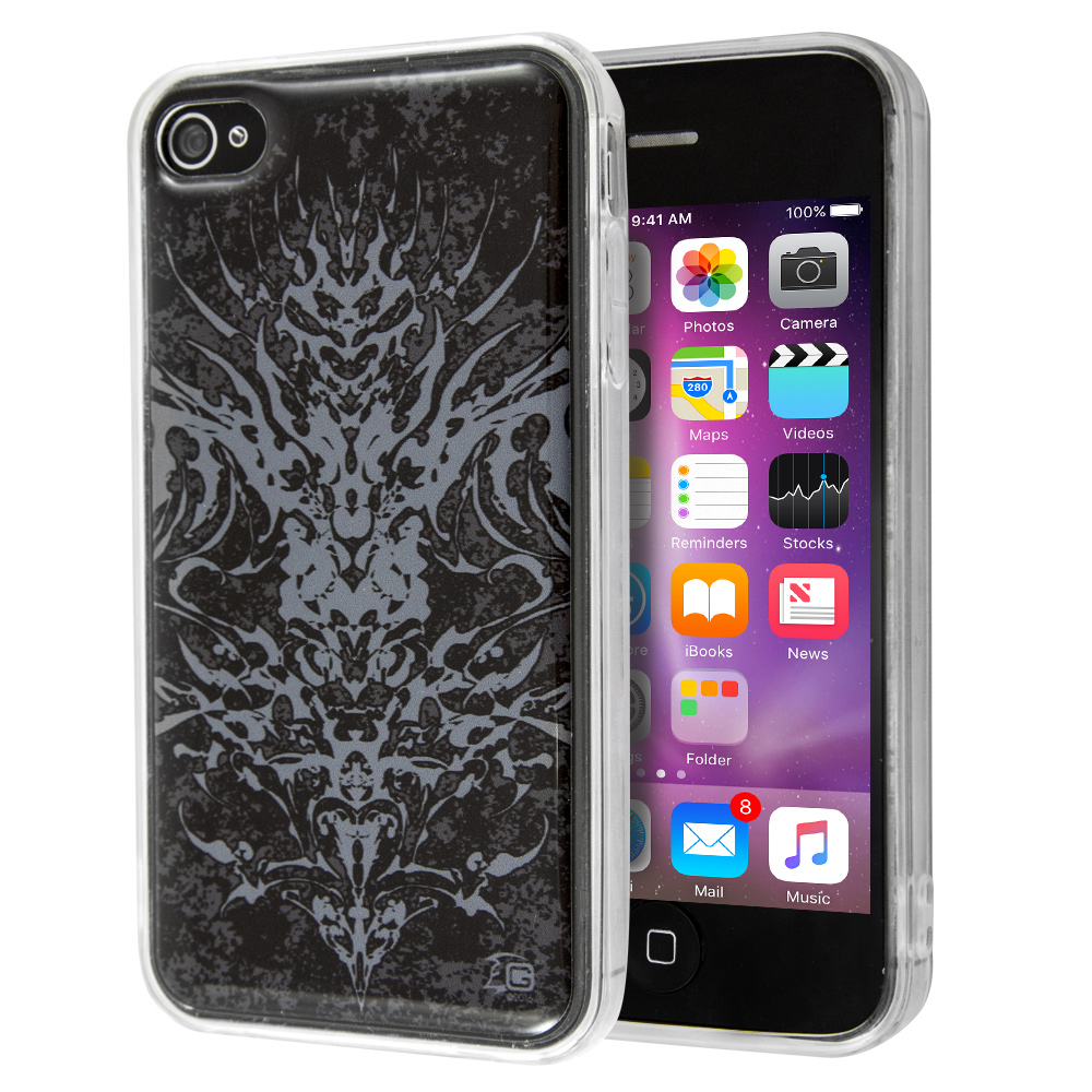 Θήκη Guardian Abstract Black Grey για iPhone 4/4s