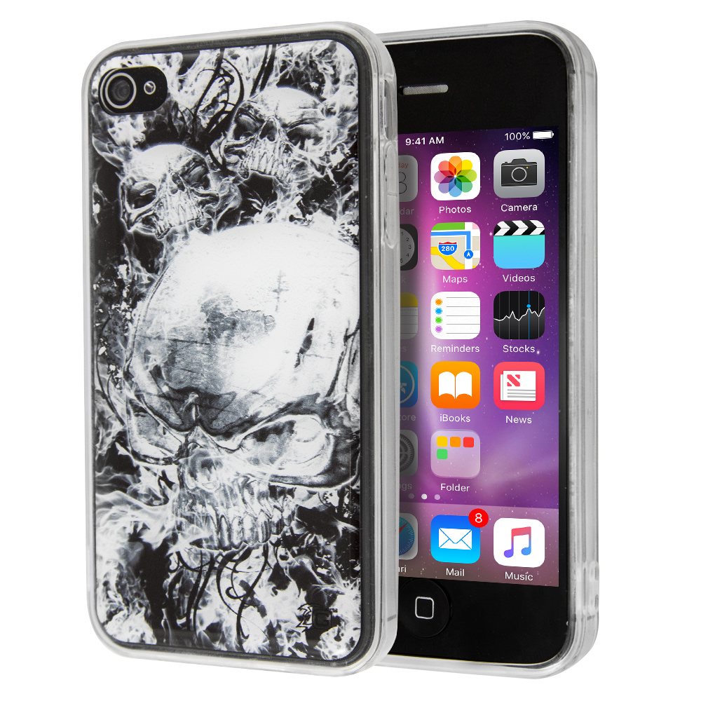 Guardian Burning Skull Case for iPhone 4/4s