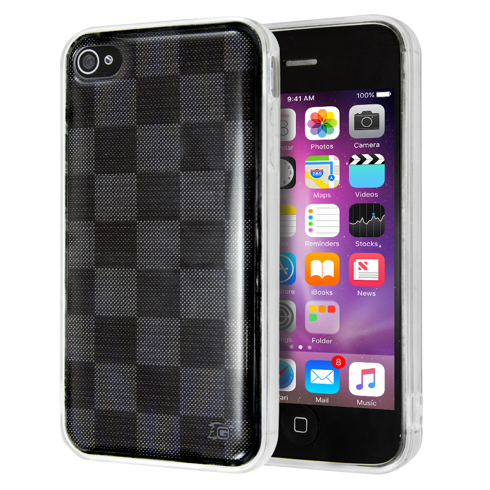 Θήκη Guardian Checkerboard για iPhone 4/4s (Mαύρο)