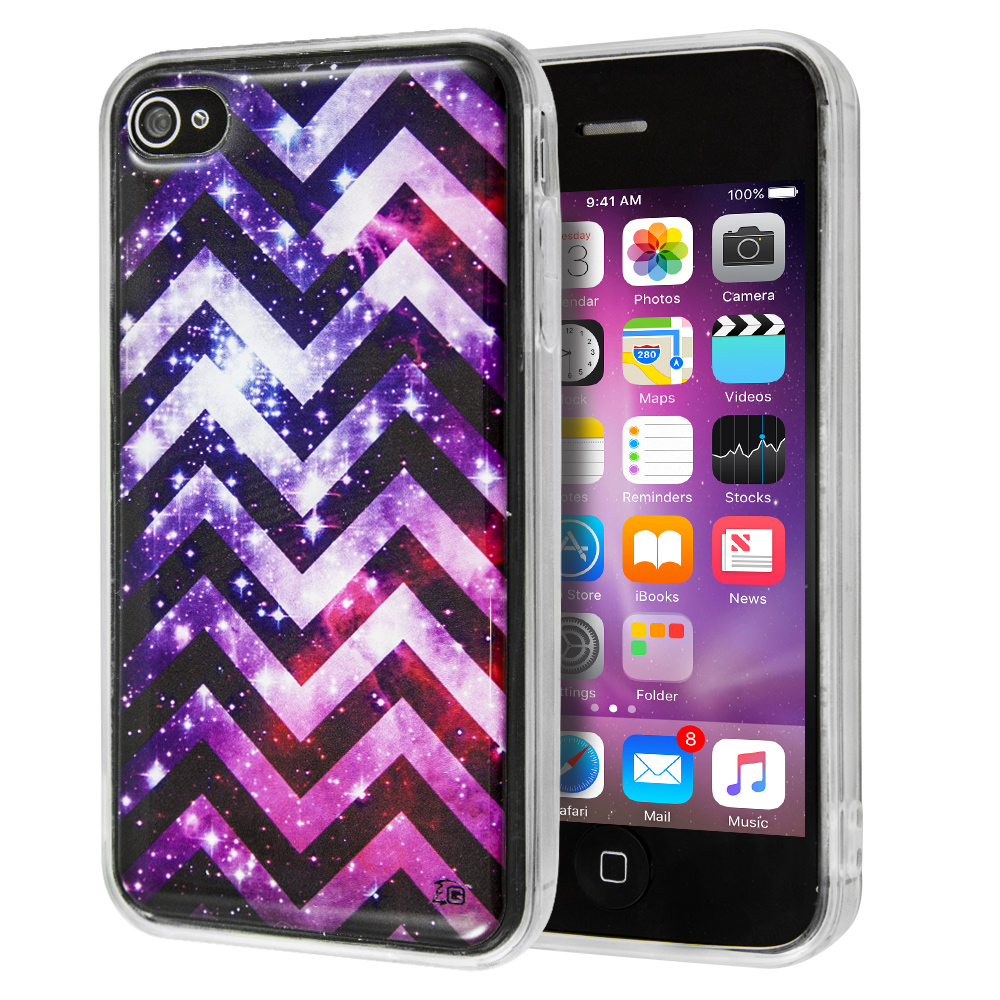 Θήκη Guardian Purple Chevron Stars για iPhone 4/4s