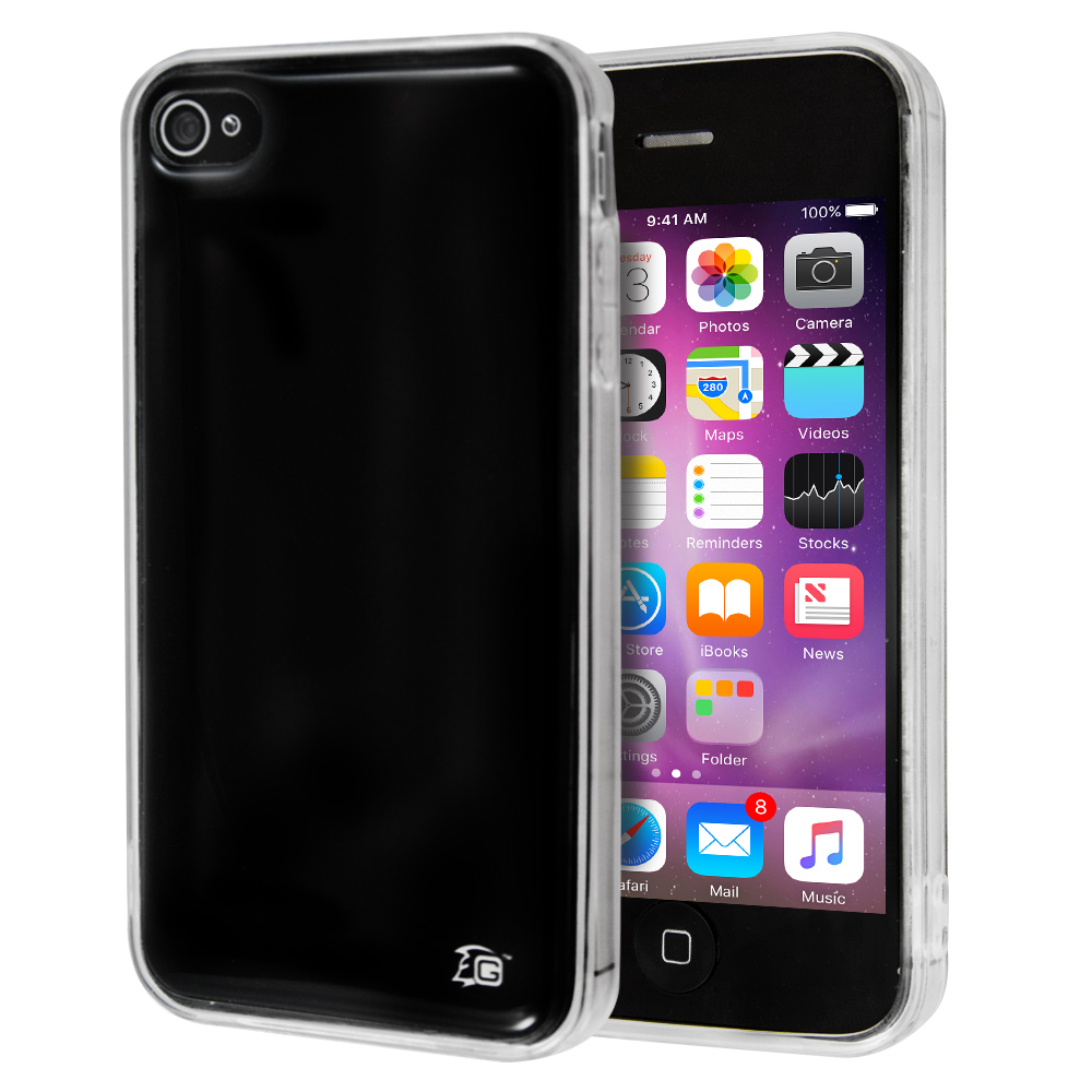 Θήκη Guardian Plain Black για iPhone 4/4s