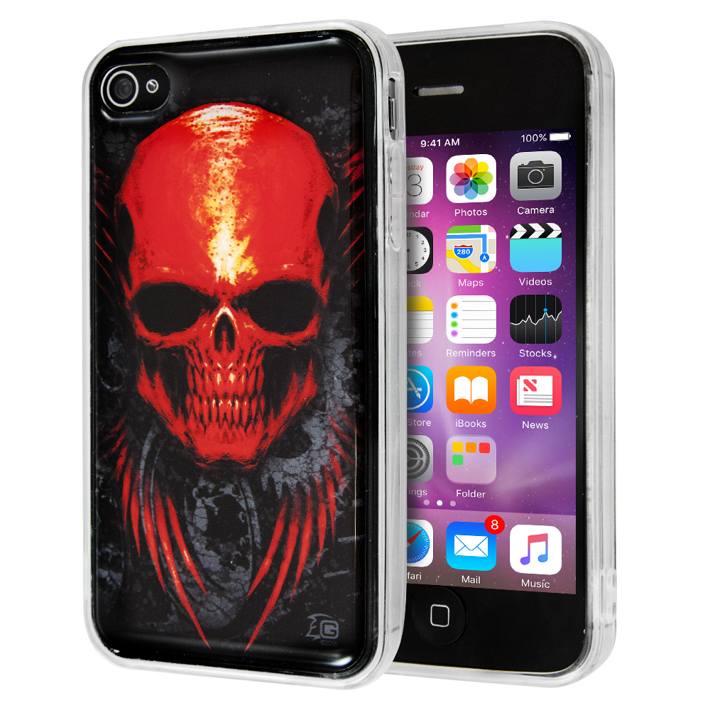 Guardian Red Skull Case for iPhone 4/4s