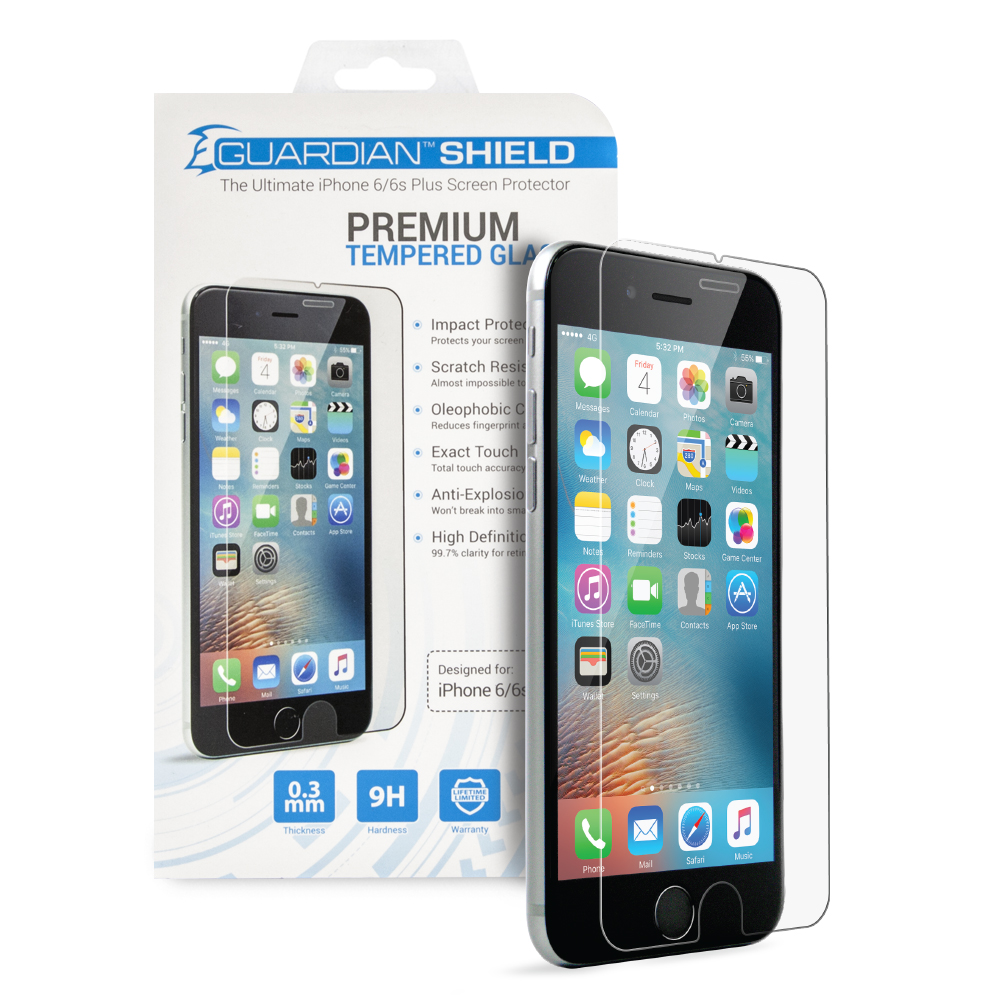 Guardian Shield Premium  HD Tempered Glass for iPhone 6/6s Plus
