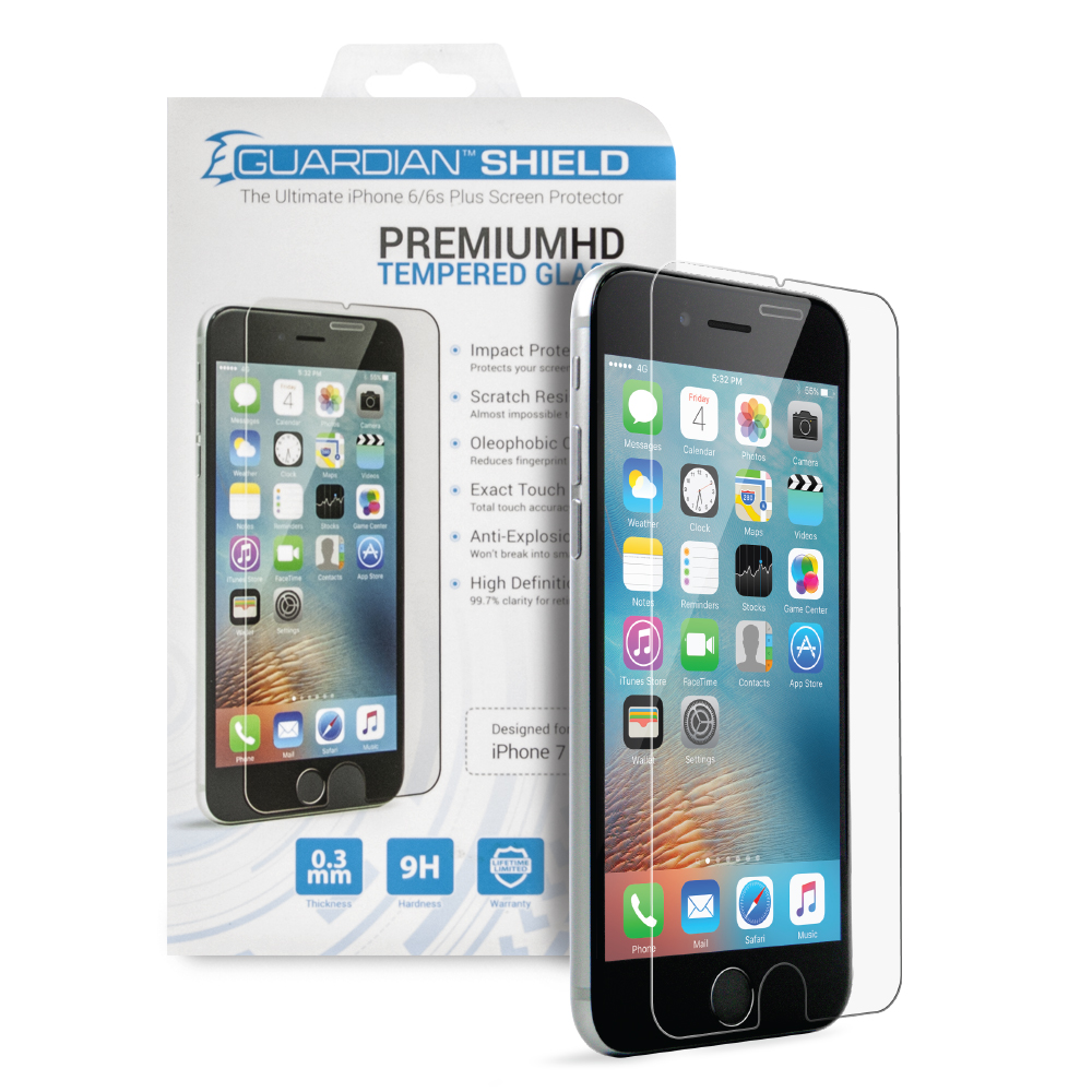size 40 3fb08 cd047 Guardian Shield Premium HD Tempered Glass for iPhone 7 Plus/8 Plus