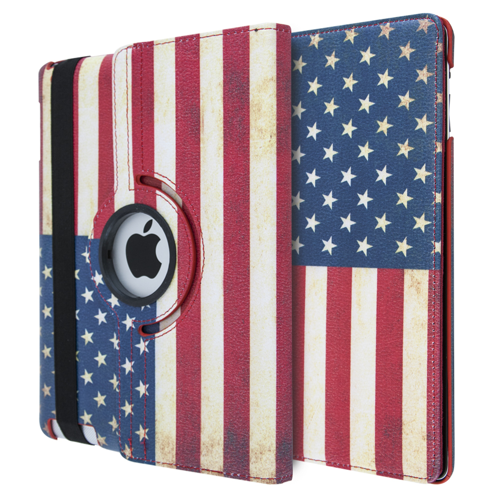 iCase 360° US Leather Flag For iPad 2-3-4