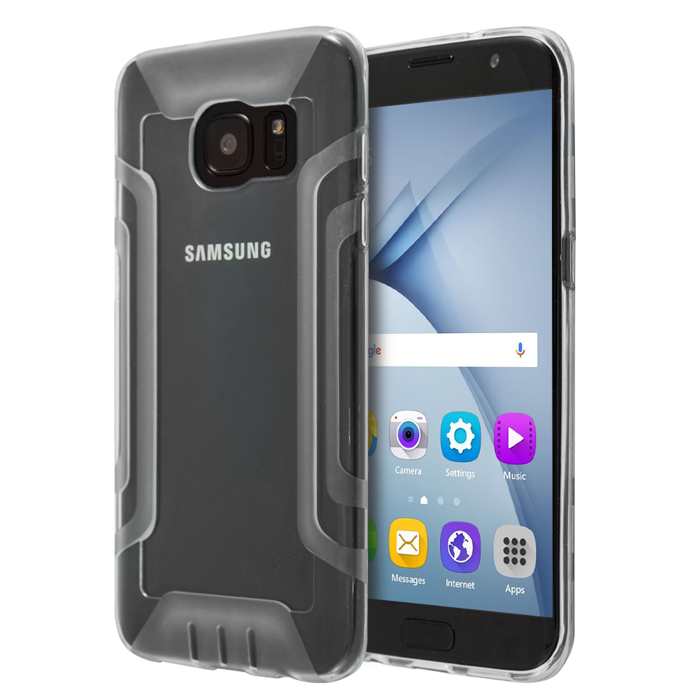 Sublime Double Silicon  Protection Case For Galaxy S7 Edge