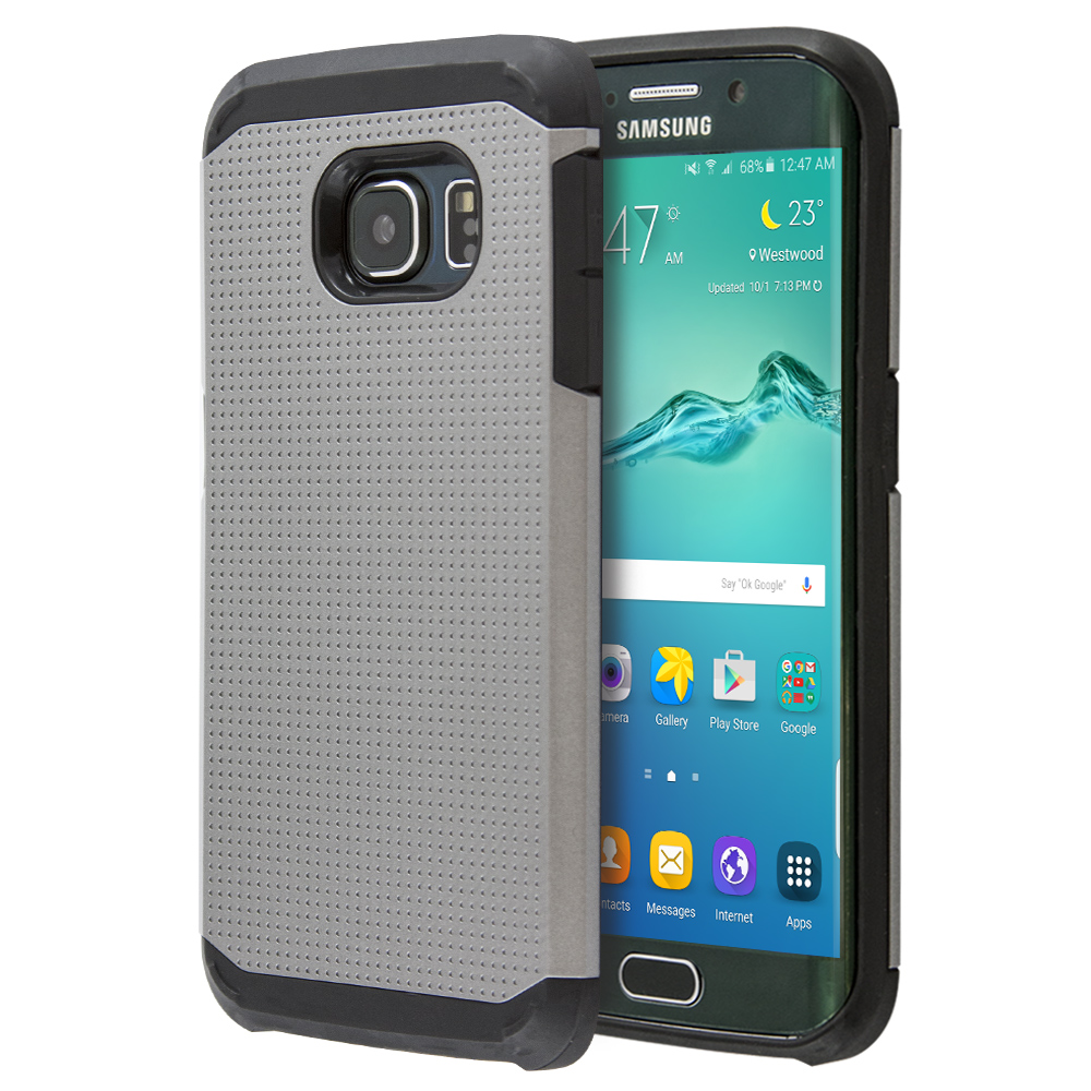 Θήκη Sublime Tough Armor Heavy για Galaxy S6 Edge (Ασημί)