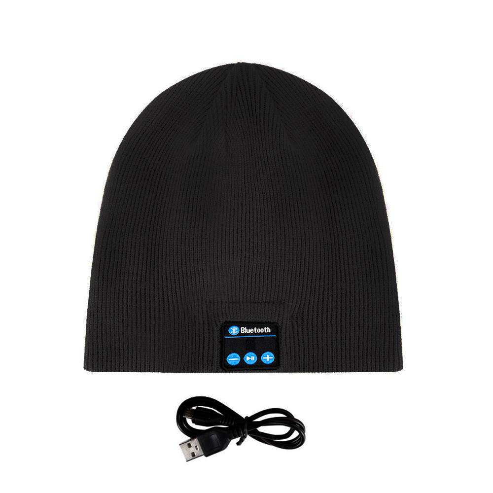 Bluetooth Music Soft Beanie Hat with Stereo Headphone Headset Speaker
