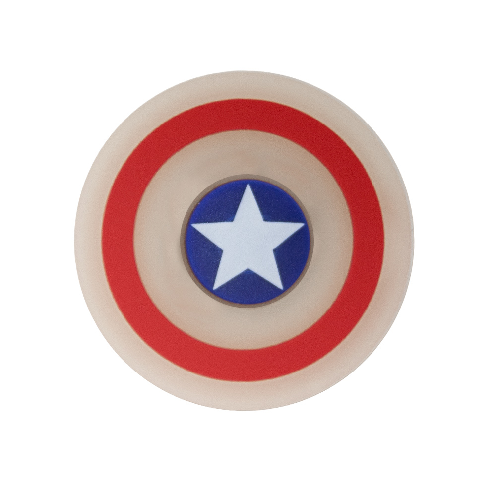 Captain America Glow In The Dark Silicone Fidget Spinner 2 Minutes
