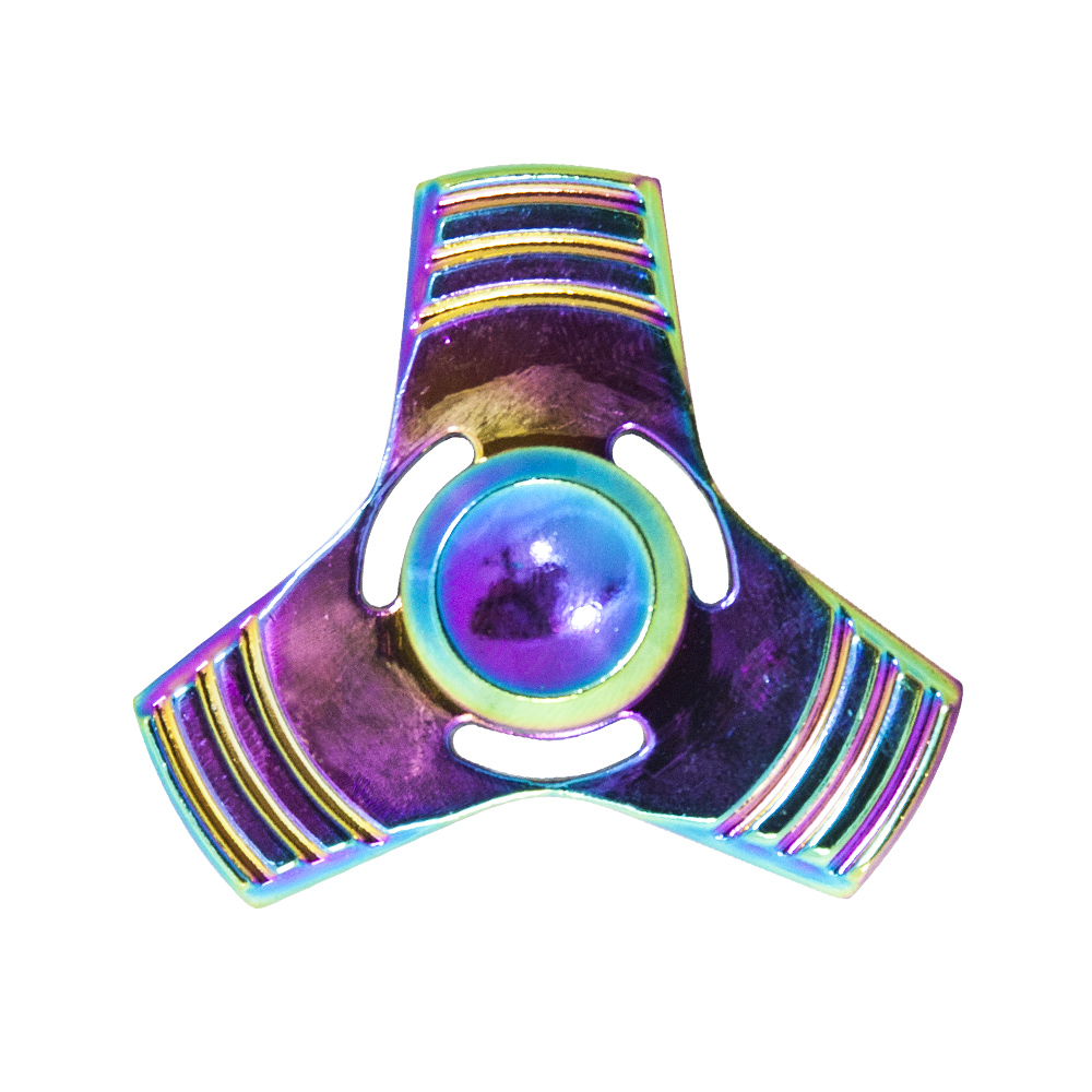 Triangle Rainbow Chameleon Copper Fidget Spinner 3 Minutes