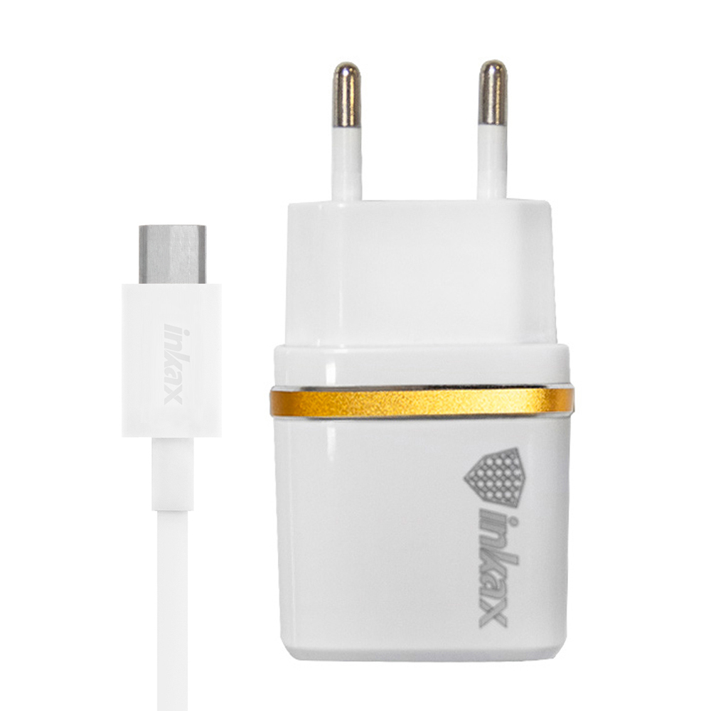 inkax Dual USB Travel Charger & Type-C Cable (1M)