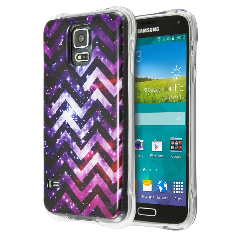 Θήκη Guardian Purple Chevron Stars για Samsung Galaxy S5