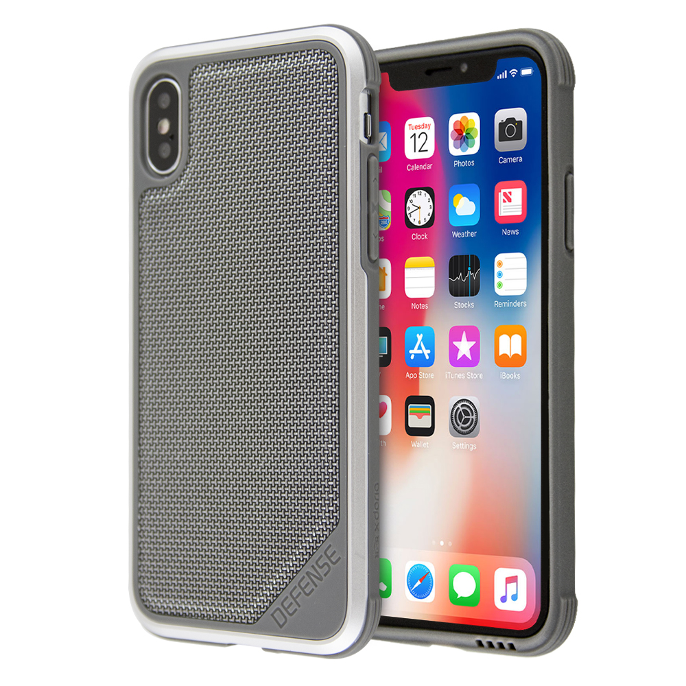 the latest d59c7 6c06c X-Doria Defense Lux Ballistic Nylon Protective Case Shock-Proof For iPhone  X / XS