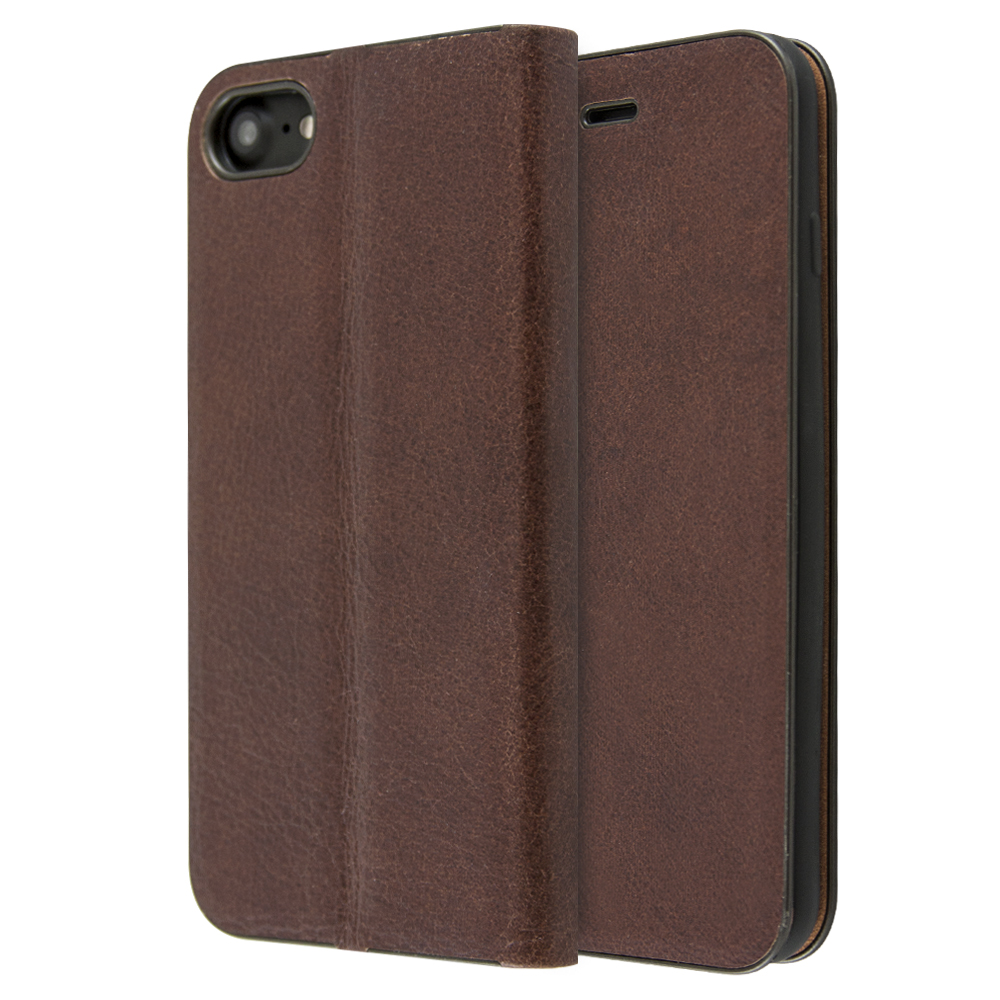 Θήκη iCase Magnetic Leather Book για iPhone 7/8 (Καφέ)