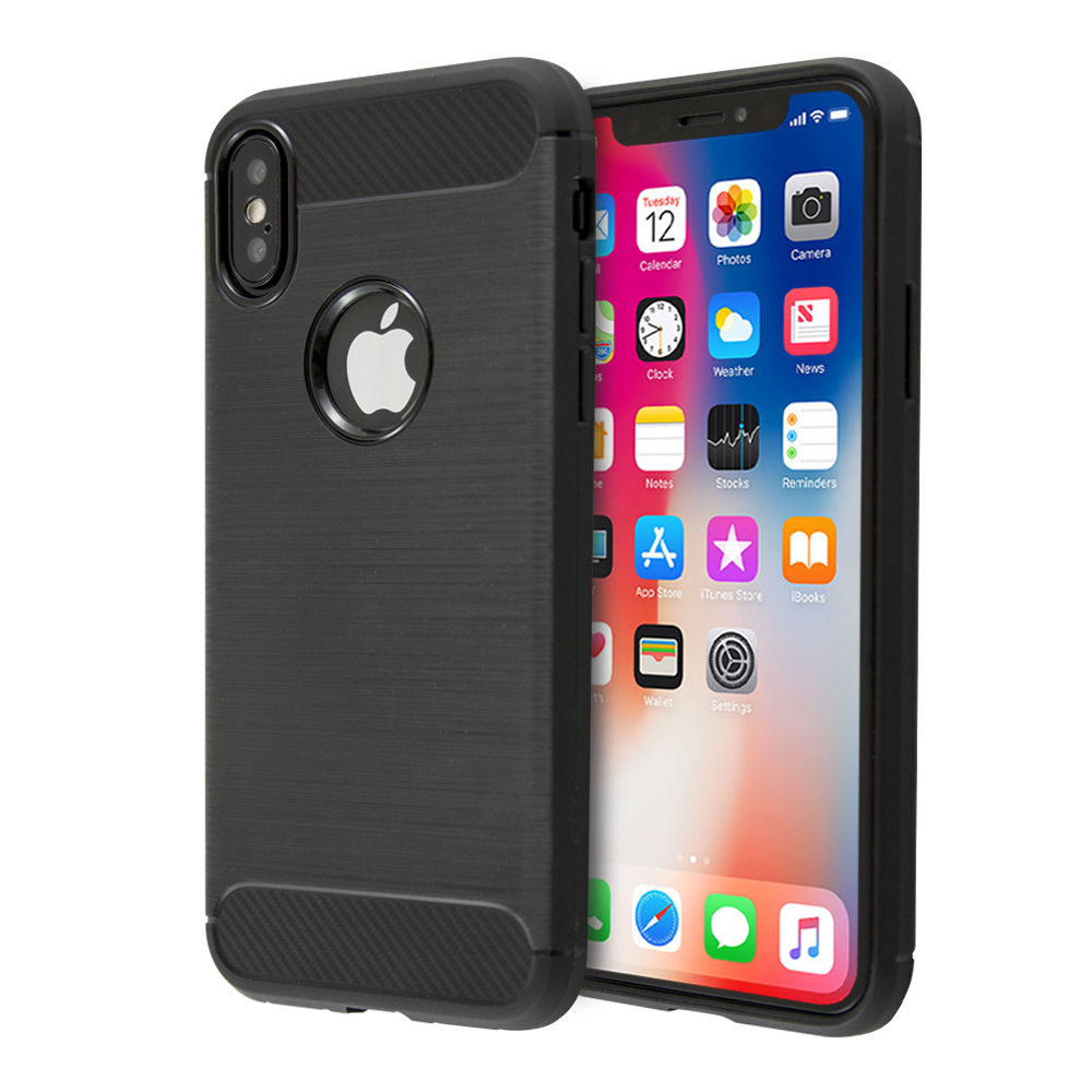 Guardian Carbon Fiber TPU Case For iPhone X / XS