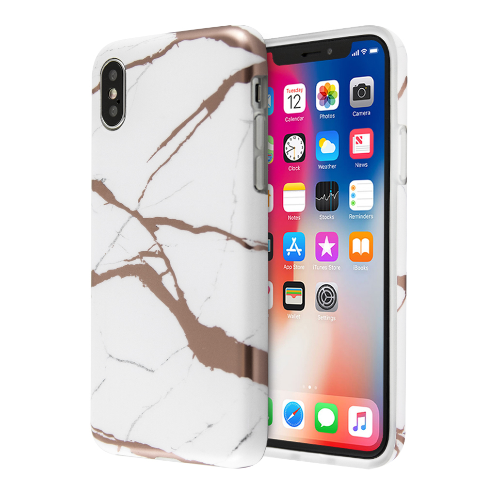 Fashion Marble Lazer Case For iPhone X / XS