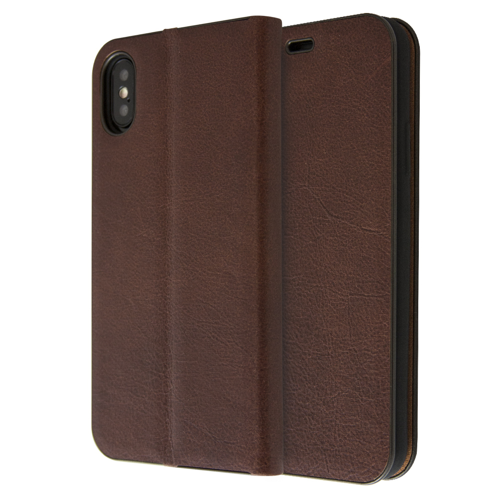 iCase Magnetic Leather Book For iPhone X / XS