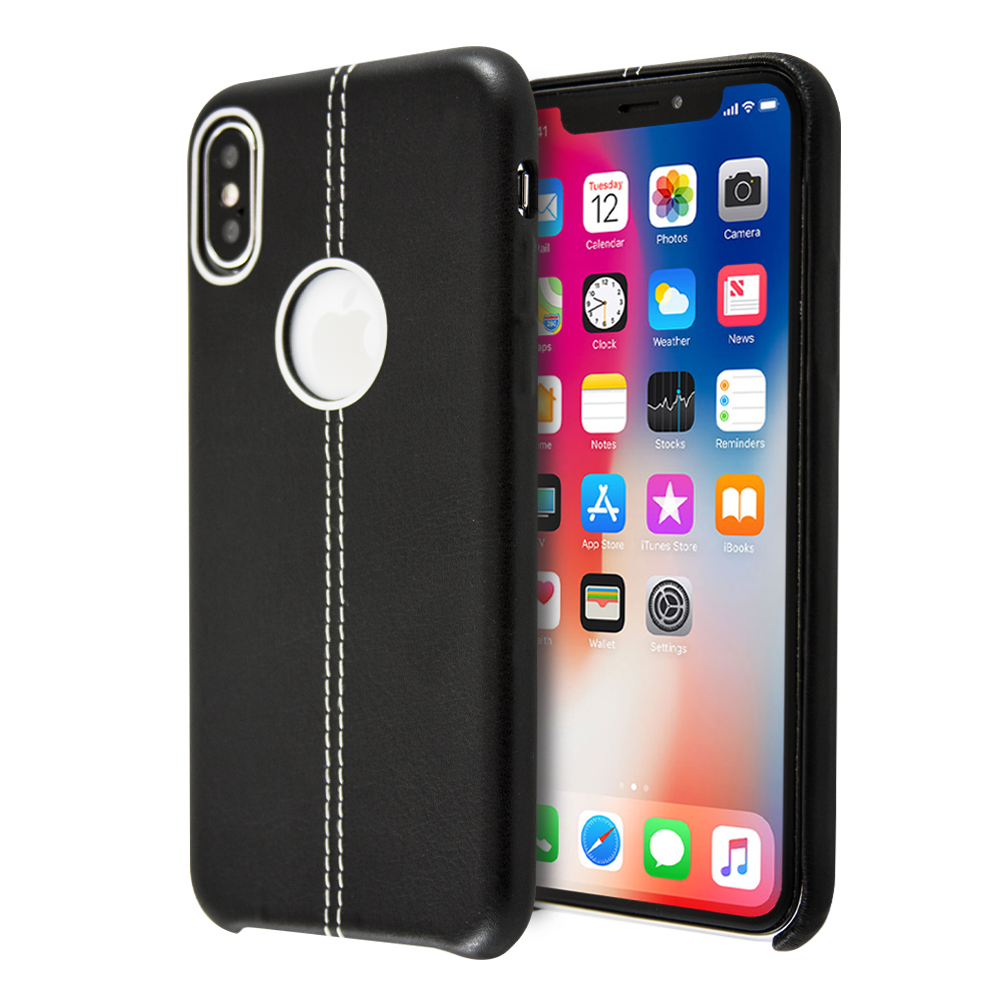 Guardian Double Stiched Leather Case For iPhone X / XS