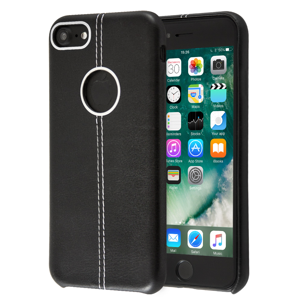 Θήκη Guardian Double Stiched Leather για iPhone 8 (Μαύρο)
