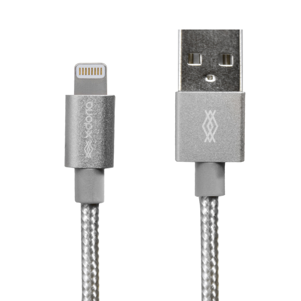x-doria Defense Bridge MFi Lightning σε USB Καλώδιο (1M) (Ασημί)