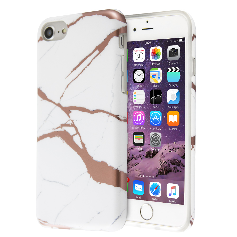 Θήκη Fashion Marble Lazer για iPhone 6 / 6s (Λευκό)