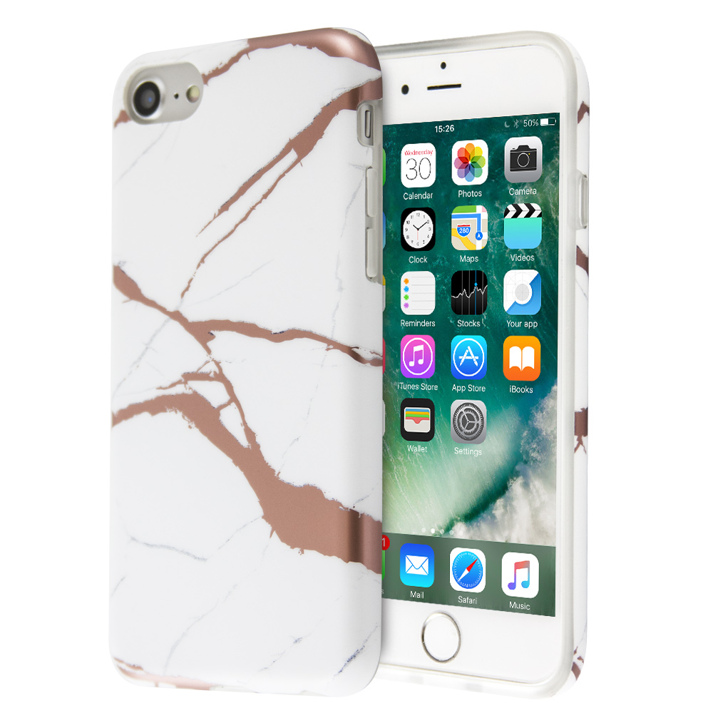 Fashion Marble Lazer Case For iPhone 7 / 8