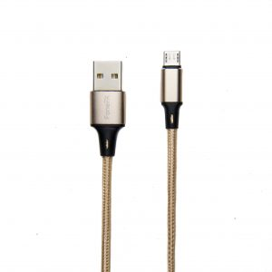 FoneFX Braided Metal Series Micro USB to USB 2.0 Cable (1M)