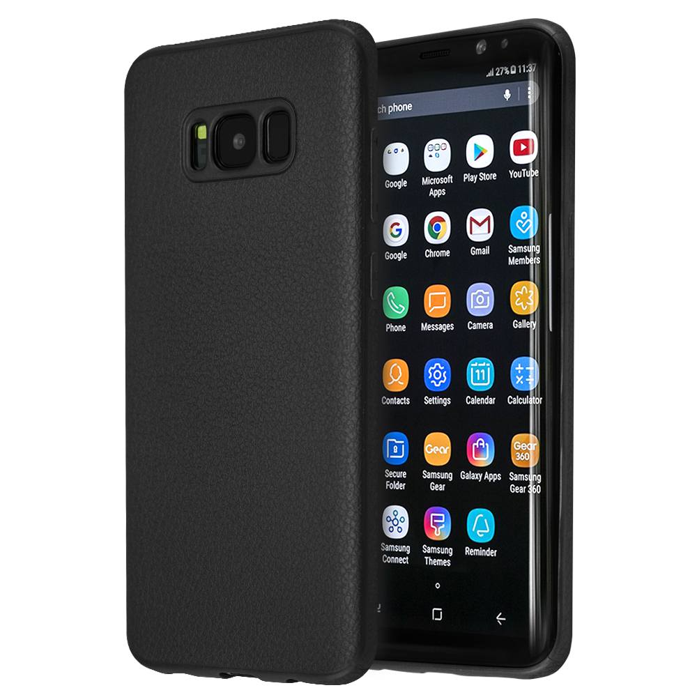 Θήκη Guardian Leather Feel TPU για Galaxy S8+ (Μαύρο)