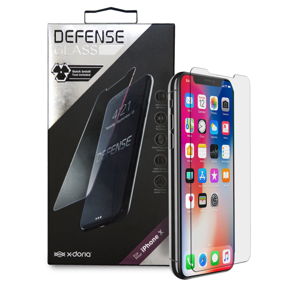 x-doria Defense Glass For iPhone X