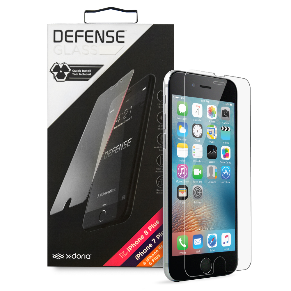Γυαλί Προστασίας x-doria Defense για iPhone 6 Plus / 6s Plus / 7 Plus / 8 Plus