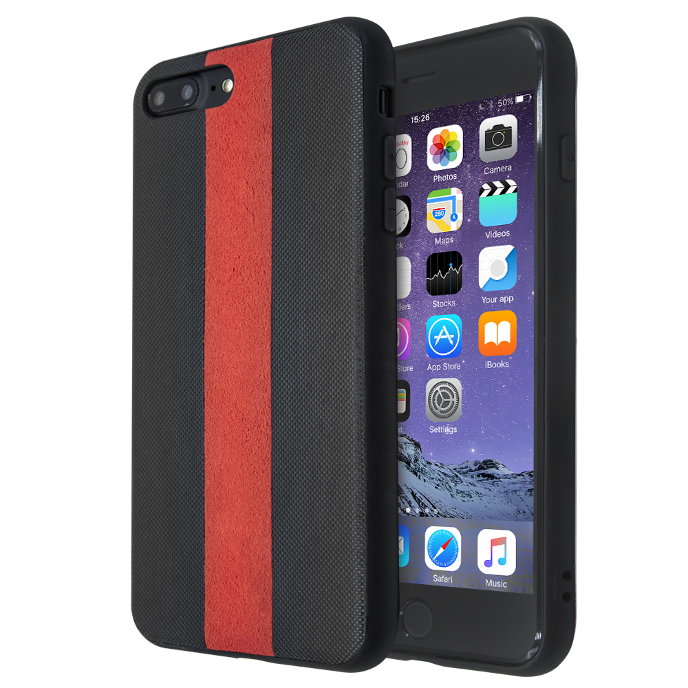 Θήκη Guardian Red Stripe για iPhone 7 Plus / 8 Plus (Μαύρο)
