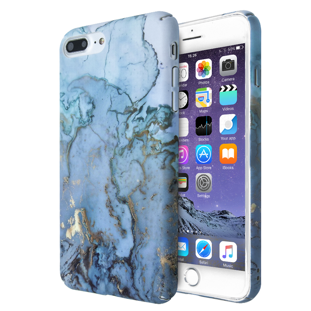 Θήκη Merge Marble Shell για iPhone 7 Plus / 8 Plus (Mπλε)