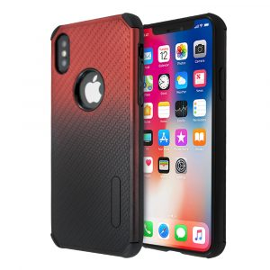 Θήκη FoneFX Cornered Mesh Gradient για iPhone XS Max (Kόκκινο)
