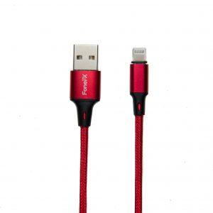 FoneFX Braided Metal Series Lightning to USB 2.0 Cable (1M)