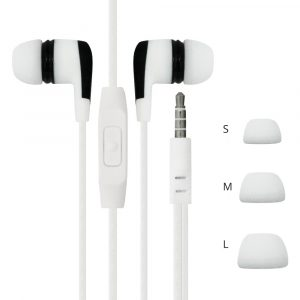 FoneFX In-Ear Stereo Headphones with Mic and Volume Control