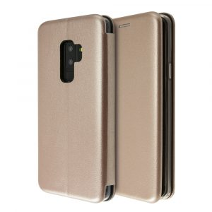 Θήκη iCase PU Leather Book για Galaxy S9 Plus (Rose Gold)