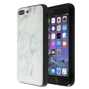 Merge Marble Glass Case For iPhone 7 Plus / 8 Plus