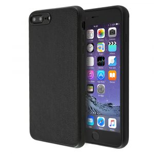 Guardian Black Leather Case For iPhone 7 Plus / 8 Plus